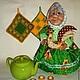 Человечки ручной работы. Ярмарка Мастеров - ручная работа. Купить Моя милая бабушка. Кукла на чайник)). Handmade. Зеленый