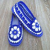Обувь ручной работы handmade. Livemaster - original item Slippers crochet Winter mood. Handmade.
