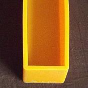 Материалы для творчества ручной работы. Ярмарка Мастеров - ручная работа Форма силиконовая прямоугольная, на 1,25 л мыла, б/у. Handmade.