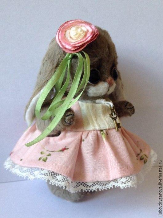 Мишки Тедди ручной работы. Ярмарка Мастеров - ручная работа. Купить Зайка Рози. Handmade. Бледно-розовый, вискоза