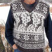 Жилеты ручной работы. Ярмарка Мастеров - ручная работа Жилеты: Пуховый жилет---Снежные холмы---. Handmade.