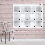 Календари ручной работы. Ярмарка Мастеров - ручная работа Большой календарь для заметок. Handmade.