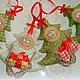 Человечки ручной работы. Ярмарка Мастеров - ручная работа. Купить Елочка текстильная новогодняя, игрушка на елку, сувенир. Handmade. Зеленый
