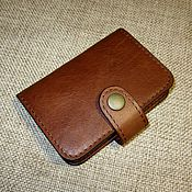 Сумки и аксессуары handmade. Livemaster - original item Small vertical business card holder. Red-crickety pul-ap.. Handmade.