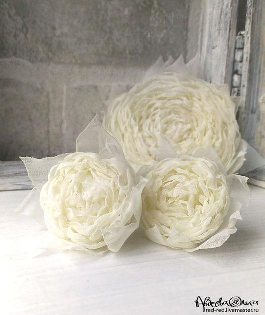 цветы из ткани белые роза из ткани белоснежная запонки с цветами шебби шик