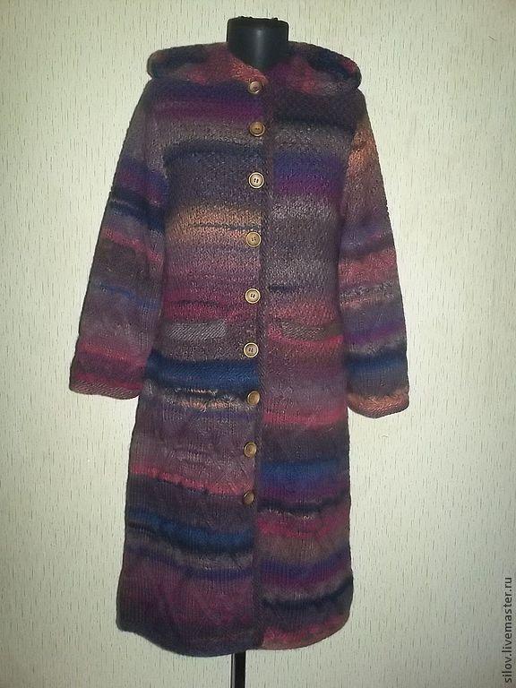 Вязаное пальто с капюшоном в стиле ампир, стильное вязаное пальто, Пальто, Москва,  Фото №1