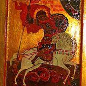 Картины и панно ручной работы. Ярмарка Мастеров - ручная работа Икона Святой Георгий. Handmade.