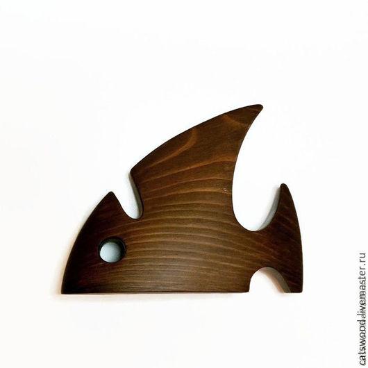 """Приколы ручной работы. Ярмарка Мастеров - ручная работа. Купить Подставка для очков """"Рыба"""". Handmade. Коричневый, для дома и интерьера"""