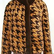"""Одежда ручной работы. Ярмарка Мастеров - ручная работа Жакет из норки комбинированный. Рисунок """"М"""". Handmade."""