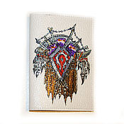 Канцелярские товары ручной работы. Ярмарка Мастеров - ручная работа Герб Орды World Of Warcraft - обложка для паспорта (0421). Handmade.