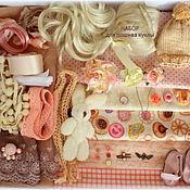 Материалы для творчества ручной работы. Ярмарка Мастеров - ручная работа Набор для пошива куклы с авторской выкройкой куклы и одежды. Handmade.