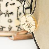 Украшения ручной работы. Ярмарка Мастеров - ручная работа Кулон Бубен шамана. Handmade.