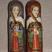 Русский стиль ручной работы. Ярмарка Мастеров - ручная работа Матрешка-футляр для бутылки (о,5 л) ( ШТОФ). Handmade.