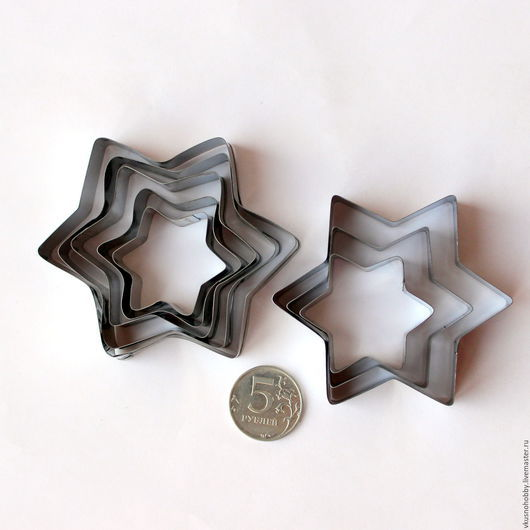 """Другие виды рукоделия ручной работы. Ярмарка Мастеров - ручная работа. Купить """"Звезда шестиугольная"""" (2 набора). Резак, каттер, формочка. Handmade."""
