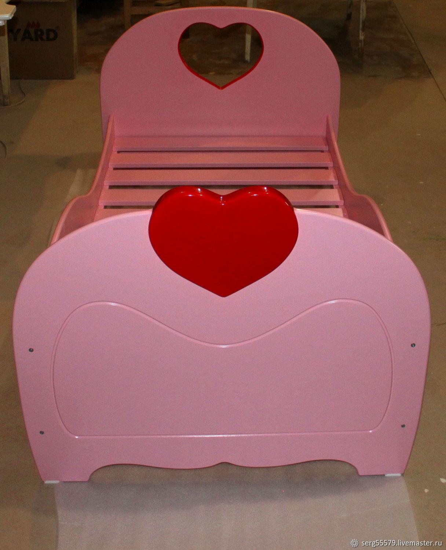 """Кровать для девочек """"Сердечки 2"""", Кровати, Петрозаводск,  Фото №1"""