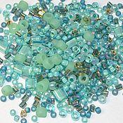 Материалы для творчества handmade. Livemaster - original item 10g Toho MIX 3203 Bamboo Japanese Beads TOHO Seafoam/Green Mix. Handmade.