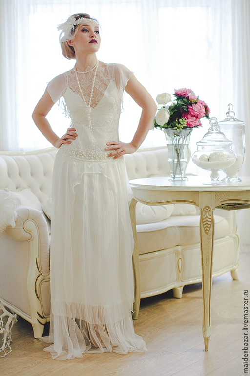 Clothing Accessories Handmade Livemaster Wedding Dress In The Style Of