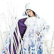 """Одежда ручной работы. Ярмарка Мастеров - ручная работа стеганное пальто """"васильки"""". Handmade."""