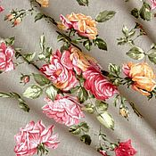 Материалы для творчества handmade. Livemaster - original item Fabric linen 50% the poem