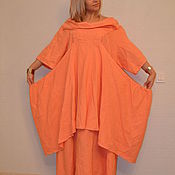 Одежда ручной работы. Ярмарка Мастеров - ручная работа Бохо лен платье готовимся к лету. Handmade.