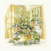"""Картины и панно ручной работы. Ярмарка Мастеров - ручная работа Вышитая картина """"Солнечное утро"""". Handmade."""
