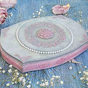 Для дома и интерьера ручной работы. Ярмарка Мастеров - ручная работа Шкатулка розовая нежная с объемным ажуром. Handmade.