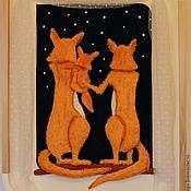 Картины и панно ручной работы. Ярмарка Мастеров - ручная работа Звездное небо из лисьей норы. Handmade.