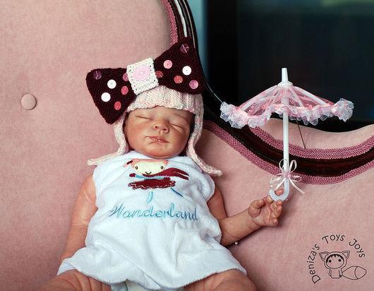 """Вязание ручной работы. Ярмарка Мастеров - ручная работа. Купить Мастер класс """"Шапочка-парик с бантиком для новорожденной девочки"""". Handmade."""