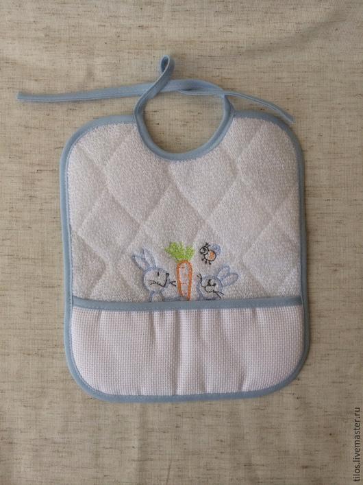 Для новорожденных, ручной работы. Ярмарка Мастеров - ручная работа. Купить слюнявчик с канвой для вышивки. Handmade. Слюнявчик, разноцветный