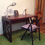 Для дома и интерьера handmade. Livemaster - original item the desk in the loft made from solid oak. Handmade.