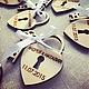 Свадебные аксессуары ручной работы. Замочки-магниты в виде сердечка. Посохина Юлия. Интернет-магазин Ярмарка Мастеров. Бонбоньерка