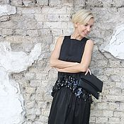 Одежда ручной работы. Ярмарка Мастеров - ручная работа Длинная черная юбка МАГИЯ. Handmade.