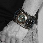 Украшения ручной работы. Ярмарка Мастеров - ручная работа Часы наручные Широкий кожаный ремень. Handmade.