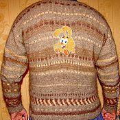 Одежда handmade. Livemaster - original item Men`s sweater with handmade embroidery .. Handmade.