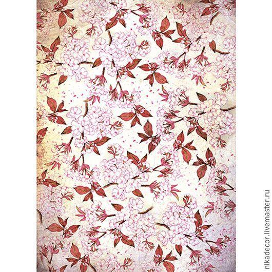 Декупаж и роспись ручной работы. Ярмарка Мастеров - ручная работа. Купить Цвет вишни (CP05627) - рисовая бумага, А3. Handmade.