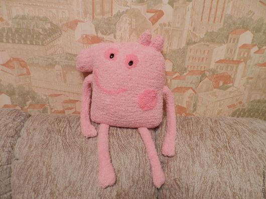 Текстиль, ковры ручной работы. Ярмарка Мастеров - ручная работа. Купить Подушка Свинка Пэппа. Handmade. Розовый, мягкая игрушка