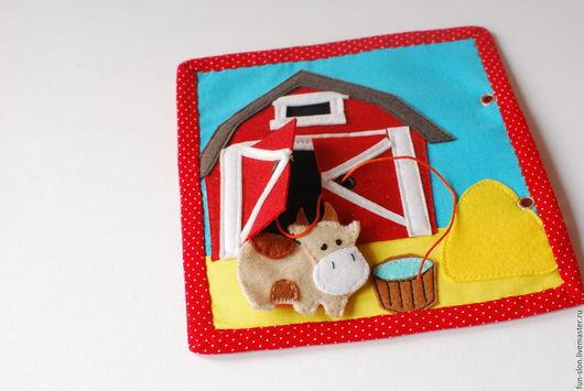 Развивающие игрушки ручной работы. Ярмарка Мастеров - ручная работа. Купить Развивающая книжка из фетра В деревне. Handmade.