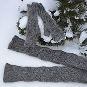 Аксессуары handmade. Livemaster - original item Set of down Leggings and mittens. Handmade.