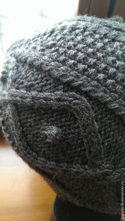 Шапки ручной работы. Ярмарка Мастеров - ручная работа. Купить Серая шапочка с ушами и  ажурным узором. Handmade. Серый