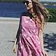 """Платья ручной работы. Платье """"Вивьен"""" pink. Roses (Roses-dresses). Интернет-магазин Ярмарка Мастеров. Цветочный, Розовое платье"""