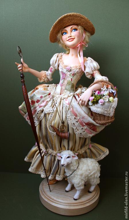 Коллекционные куклы ручной работы. Ярмарка Мастеров - ручная работа. Купить Пастораль. Handmade. Кукла ручной работы, подарок, пастушка