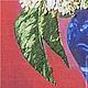 Картины цветов ручной работы. Картина вышитая лентами и гладью. Марина. Ярмарка Мастеров. Набор для вышивки гладью, габардин
