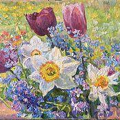 Картины и панно handmade. Livemaster - original item Painting oil, Spring. painting. Flowers .. Handmade.
