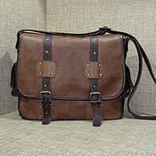 Сумки и аксессуары handmade. Livemaster - original item Crossbody bag: Men`s leather messenger shoulder bag LEGION. Handmade.
