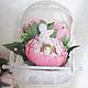 """Подарки для новорожденных, ручной работы. Сладкая композиция """"С новорожденной"""". Лавка Чудес. Ярмарка Мастеров. Бледно-розовый, бусины"""