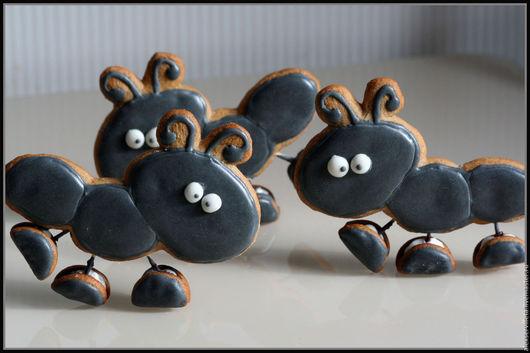 Кулинарные сувениры ручной работы. Ярмарка Мастеров - ручная работа. Купить Пряничный муравьи. Handmade. Комбинированный, муравей, пряник, яйцо