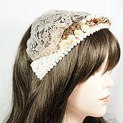 Украшения handmade. Livemaster - original item headband-tiara on white lace macrame. Handmade.