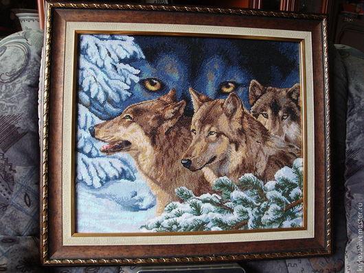 Животные ручной работы. Ярмарка Мастеров - ручная работа. Купить Волчий взгляд. Handmade. Картина в подарок, дикие животные