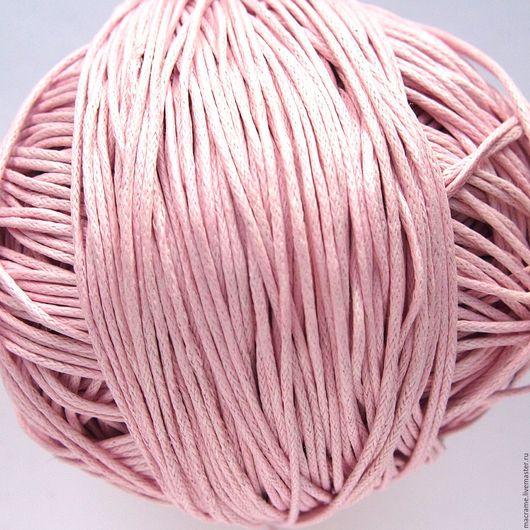 Для украшений ручной работы. Ярмарка Мастеров - ручная работа. Купить Шнур вощеный хлопковый 1 мм бледно-розовый. Handmade.