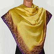 Аксессуары handmade. Livemaster - original item Silk scarf batik Placer. Handmade.